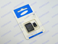 Wholesale 64GB Micro sd card Class t flash memory card SDHC Cards with Adapter sound blue package For Samsung iphone smartphone
