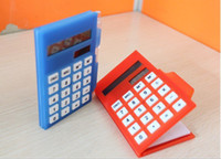 Wholesale OP business calculator notebook Pocket solar calculator notepad with pen