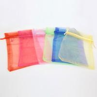 bg lots - 12 mm Newest Fashion Random Mix Six Colors Jewelry Packing Drawable Gift Organza Bag For Living Locket BG BG