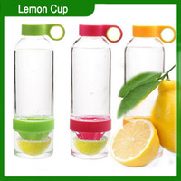 Wholesale Lemon Bottle Citrus Zinger Lemon Cup Fruit Infusion Water Bottles with Citrus Juicer DHL