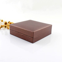 Wholesale Jewelry Box Fashion Rectangle Brown Waterproof Paper Bangles and Bracelets Gift Boxes for Women Jewelry Packaging
