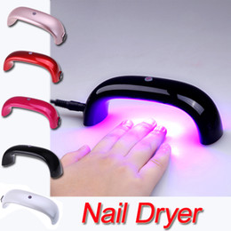 Wholesale Portable W V LED Light Bridge shaped Mini Curing Nail Dryer Nail Art Lamp Care Machine for UV Gel EU Plug H10935