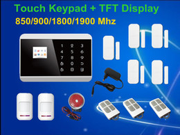 Wholesale Touch Screen Keypad LCD display Wireless Zone GSM PSTN SMS Home house Security Burglar Voice Alarm System