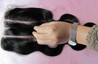 Wholesale 100 Brazilian Human Virgin Hair Part Lace Closure Top Closure Human Hair Extensions Body Wave Natural Color DHL