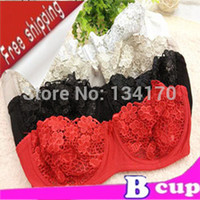 Cheap B2 Lace Bra Sexy Bra Underwear women embroidery Flower Sexy lingerie See through sutian triumph bra