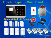 Wholesale Smart Android App LCD Wireless Touch Screen Keypad Panel GSM PSTN SMS Home Security Burglar Voice Alarm System