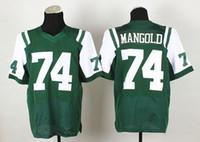 Wholesale Green Mangold Jersey Cheap Elite Mens Football Jerseys Football Wears Hottest Sports Jerseys High Quality Athletic Uniforms Mix Order