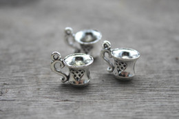 Wholesale 20pcs Coffee Mug Cup Charms Pendants Antique Tibetan Silver Tone D mm x mm once upon a time