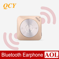 Cheap DHL free High quality QCY Pandora QY3 Wireless stereo bluetooth headset music headphones, mini cell phone 4 headset microphone