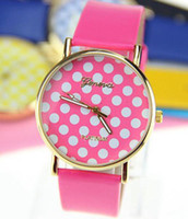 Wholesale New style fashion watches for ladies girls with high quality using leather belt and print dots
