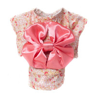 Wholesale 2014 New Fashion Big Bowknot Pet Clothes Dog Dress Spring Summer Dog Clothes Japanese Kimono Pet Product