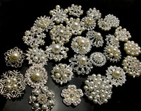 Wholesale 30P SILVER COLORX Mixed Bulk Wedding Bridal Silver Plated Crystals Brooches Brooch Bouquet Faux Pearl Diamond