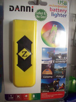 Wholesale Portable DANNI USB lighter Electronic Rechargeable Battery Cigarette Flameless FLASHLIGHT Battery Cigarette single blisterpackageYWJ418