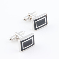 Wholesale High quality cufflinks cuff French cuff men s cufflinks nail enamel cufflinks class black