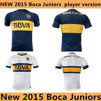 Wholesale Top Thai Quality Boca Juniors Home Blue Soccer Jersey Mens Football Jerseys New Arrival Club Team Shirts Boca Away Jerseys White