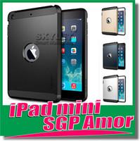 Wholesale SGP Case For Ipad Mini Ipad mini Case offical style Hybrid Case SGP Tough Armor Cases Soft TPU PC Case Cover with retail box