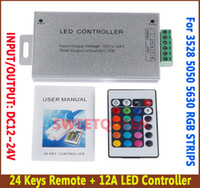 Wholesale LED Infrared Aluminum Shell Controller keys V A A CMOS Drain Open Out Put controller for led strips light