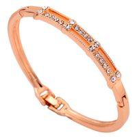 10k gold bracelet - Yazilind Jewelry Fashion K Yellow Gold Filled Bracele Crystal Inlay Bangle Bracelet Lady Gift
