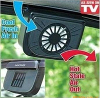 Cheap Wholesale-OP-Summer Solar Power Car Auto Cooler Air Vent With Rubber Stripping Car Ventilation Fan Portable Car Air Conditioner Free Shippin