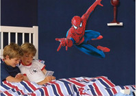 Wholesale Large PVC Cartoon Spiderman Baby Wall Stickers for Kids Nursery Rooms Decorative Wall Decal Paper Movie Poster