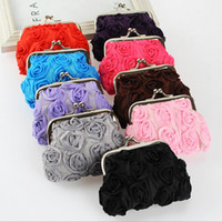 Wholesale Many styles leopard crocodile Zebra rose embroidered lace lady bags coin purse small gift wallets hasp key holder