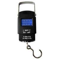 Cheap Wholesale-OP-New 2013 50kg 10g LCD Display Digital Portable Electronic Travel Luggage Fishing Weight Hook Hanging Scale 8830