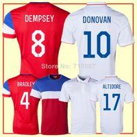 TODOS Logotipo Jugador Tailandia DEMPSEY, estados UNIDOS Jersey 2014 de la Copa del Mundo Blanco de Estados unidos DONOVAN Hombres 2014 Rojo de Fútbol de estados UNIDOS Jerseys Cortos
