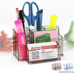 Office School Supplies Multifunction Luxury Pen Stand Pen Holder With Card Holder Cosmetic Organizer Makeup Case K-097