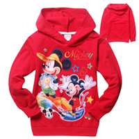 Wholesale New children hooded kids cartoon jumpers kids long sleeve Hoodies boy terry hoodies kids warm sweater clothing children tops