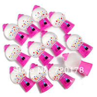 Cheap 600pcs lot,0.6x1.2'' Hot Pink Bubble GUM Gumball Machine Cabochons Resin Flatbacks Scrapbooking Crafts Making DIY,REY158-1
