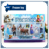New Arrival Frozen Anna Elsa Hans Kristoff Sven Olaf PVC Act...