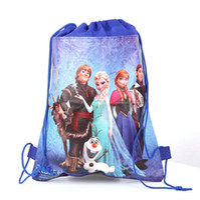 Wholesale New Arrive Frozen drawstring bags Anna Elsa backpacks handbags children school bags kids shopping bags present