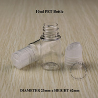 Wholesale 10ML Transparent Press Cap Bottle Clear Plastic Lotion Sub bottling Empty Cosmetic Shampoo Container With Screw Lid