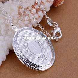 Wholesale P163 New sterling silver Fashion wang photo frame pendant necklace Jewelry necklace