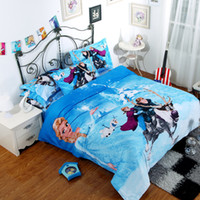 Cheap 3D cartoon kids bedding sets frozen Elsa & Anna Olaf 4pcs bedding set Queen King size quilt duvet cover quilt bedspread 100% cotton