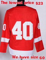 Cheap Henrik Zetterberg 40 ice Hockey jerseys mens womens youths kids jerseys accept mix order Name Logo Stitched AAAAA quality Lowest price
