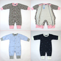 Wholesale newborn baby clothes rompers for boys girls infant wear coveralls outerwear garment one piece for Winter Autumn Spring