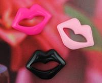 Cheap set of 50pcs Resin shiny polished kitsch resin big lips mixed colors 34mm Cabochons, hair bow supply, embellishment, DIY-SZ0171a