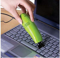 Cheap Minimum order of $ 10 ---New Mini Computer Laptop LED USB Vacuum Keyboard Cleaner Dust Collector OB24