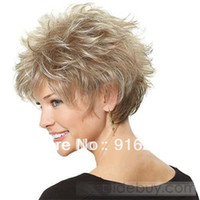 Wholesale Stylish Casual Hair blonde Short Curly Wig
