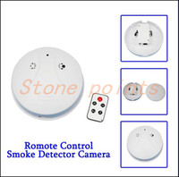 Cheap 2015 Rushed Meu Pedido free Shipping Smoke Detector Hd Dvr Hidden Cameras Monitoring And Motion Detection Remote Control 1280 * 960 P 4 Gb