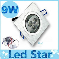 Wholesale 2015 Hot Sales Square Led Downlight W X3W Lumens Led Ceiling Light Recessed Downlights Dimmable Warm Natural Cool White AC V