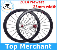Wholesale 23mm width zipp cool dark firecrest full carbon fiber road bike wheels Wheelset mm rim C light weight powerway R13 hubs only g
