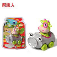 Wholesale Fun cartoon car car bottle cow children s toys animals and cars can be separated mix and match