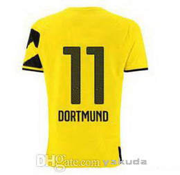 Wholesale Customized Thailand Quality Soccer Jersey Dortmund Marco Reus Home Football Jersey New Home Football Jersey Shirt