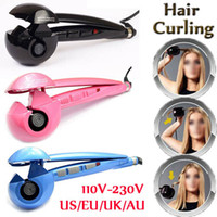 Wholesale Fashion Curling Irons Pro Perfect Curl titanium hair curler heat styling tools automatic Curl Hair roller EU AU US UK