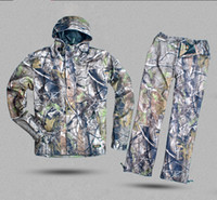Wholesale Remington APG camouflage hunting clothes suit fishing jacket and pant waterproof mesh lining hunting set C233