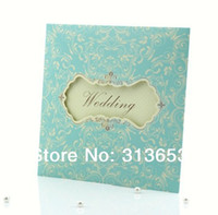 Wholesale new lace wedding invitation card for mint green party supplies party supplies