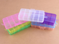 Wholesale 10 Slot Jewelry Rectangle Display Storage beads Organizer Case Box mixed colors cm