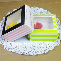 Wholesale Beautiful window boxes of biscuits cakes packaging cartons West Point Gift Cookie Boxes cupcake boxes